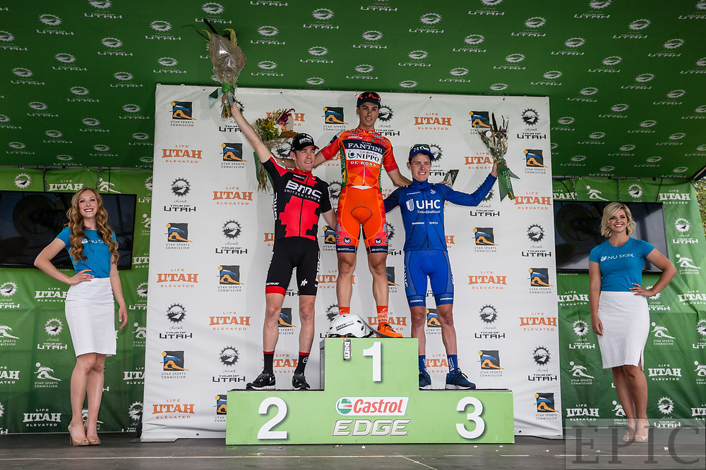 Cycling: Larry H. Miller Tour of Utah 2017 / Stage 7- Top three for the stage. <br /> <br /> Salt Lake City (116km) / TOU / Utah  <br /> &copy; Jonathan Devich