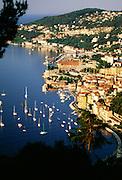 France, Provence, Villefranche, Cote d'Azur, Mediterranean Sea.