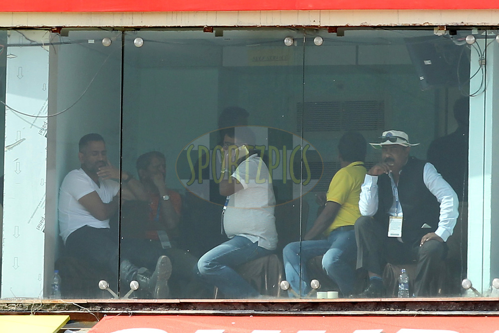 Mahendrasingh Dhoni (L) former captain of India during day five of the third test match between India and Australia held at the JSCA International Stadium Complex in Ranchi on the 20th March 2017. Photo by: Prashant Bhoot / BCCI/ SPORTZPIC