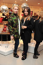 Left to right,EMILY LOBEL and WILLA KESWICK at the H&M Home Launch held at 174-176 Oxford Street, London W1 on 2nd November 2010.
