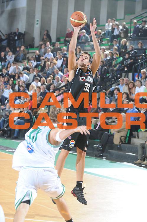 DESCRIZIONE : Treviso Lega A1 2008-09 Benetton Treviso Eldo Caserta<br /> GIOCATORE : David Brkic<br /> SQUADRA : Eldo Caserta<br /> EVENTO : Campionato Lega A1 2008-2009 <br /> GARA : Benetton Treviso Eldo Caserta<br /> DATA : 02/11/2008 <br /> CATEGORIA : Tiro<br /> SPORT : Pallacanestro <br /> AUTORE : Agenzia Ciamillo-Castoria/M.Gregolin<br /> Galleria : Lega Basket A1 2008-2009 <br /> Fotonotizia : Treviso Campionato Italiano Lega A1 2008-2009 Benetton Treviso Eldo Caserta <br /> Predefinita :
