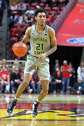 NORMAL, IL - November 13: Cameron Bowles during a college basketball game between the ISU Redbirds  and the Chicago State Cougars on November 13 2018 at Redbird Arena in Normal, IL. (Photo by Alan Look)