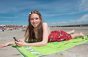 18/06/2014 Polly Edge -O'Neill from Caher in Co. Clare at the beach in Salthill Galway. Photo:Andrew Downes