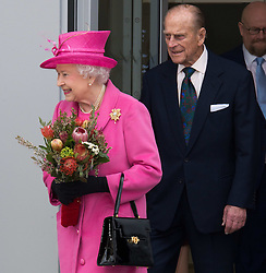 The Queen and Duke Of Edinburgh open Rambert dance company's new premises in south east London, following a move from Chiswick, Rambert Dance Company, London, United Kingdom. Friday, 21st March 2014. Picture by Nils Jorgensen / i-Images