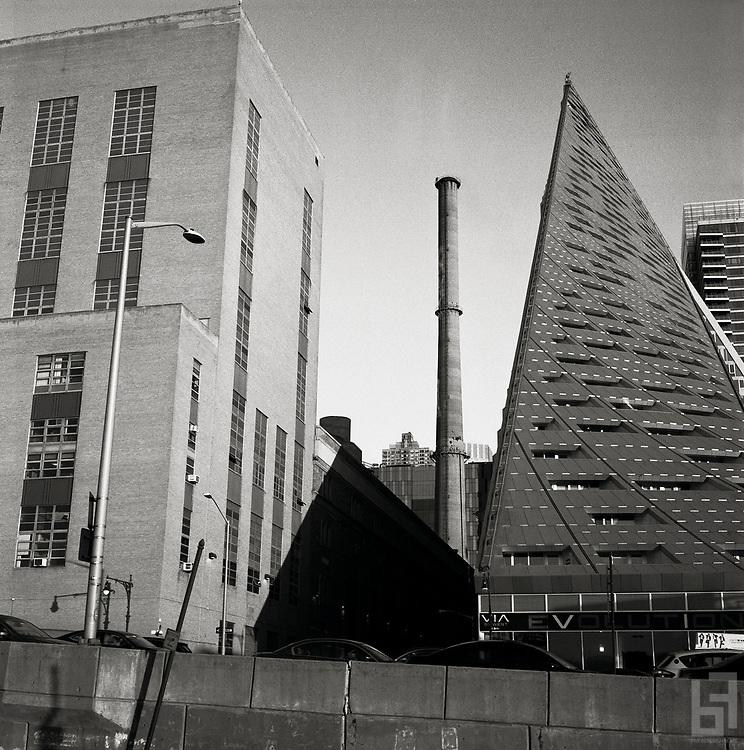 Via 57 West, a The tetrahedron apartmet building designed by Danish starchitect Bjarke Ingels of BIG Architects