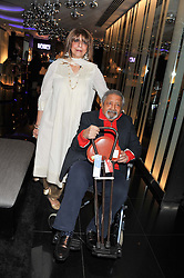 SIR V S NAIPAUL and LADY NAIPAUL at W London - Leicester Square for the Liberatum Cultural Honour in Spice Market for John Hurt, CBE in association with artist Svetlana K-Lié on 10th April 2013.