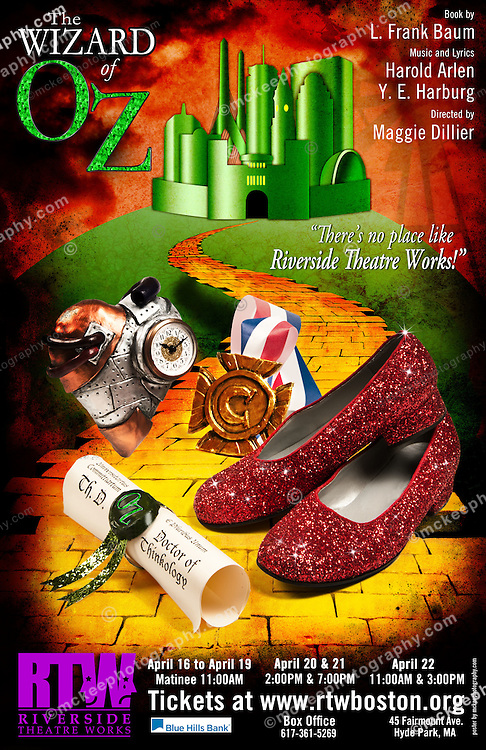 The Wizard of Oz at the Riverside Theatre Works in Hyde Park.<br /> Poster for print or download.