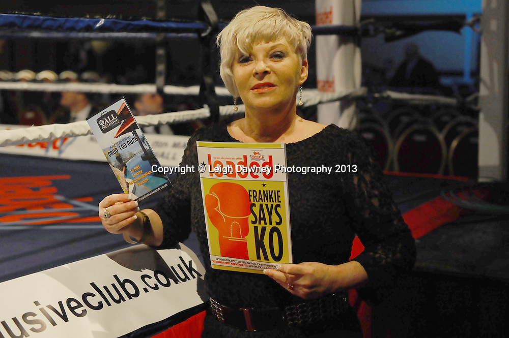 Actress Crissy Rock pictured at Rainton Meadows Arena, Houghton Le Spring, Tyne & Wear, UK. 15th February 2013. Frank Maloney Promotions. © Leigh Dawney 2013