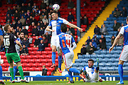 Blackburn Rovers defender Elliot Ward clears during the Sky Bet Championship match between Blackburn Rovers and Bristol City at Ewood Park, Blackburn, England on 23 April 2016. Photo by Pete Burns.