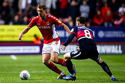 Krystian Bielik of Charlton Athletic takes on Ben Whiteman of Doncaster Rovers - Mandatory by-line: Robbie Stephenson/JMP - 17/05/2019 - FOOTBALL - The Valley - Charlton, London, England - Charlton Athletic v Doncaster Rovers - Sky Bet League One Play-off Semi-Final 2nd Leg
