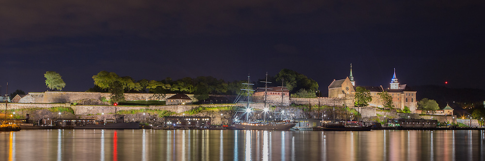 The Oslo waterfront, looking towards Akershus Fortress