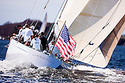 Courageous, 12 Metre Class, ceremonial start at the Sail For Pride Regatta.