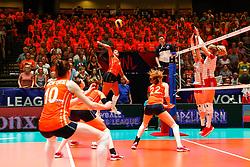 20180529 NED: Volleyball Nations League Netherlands - Poland, Apeldoorn<br />Celeste Plak (4) of The Netherlands <br />©2018-FotoHoogendoorn.nl