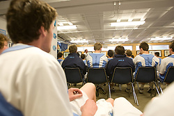 05 April 2008: North Carolina Tar Heels defenseman Tim McCall (45) before playing the Virginia Cavaliers in Chapel Hill, NC.