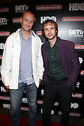 l to r: Axel Ebermann and Daniel Frey at ' Shooting Stars' Premiere during The 13th Annual UrbanWorld Film Festival sponsored by BET Networks held at AMC 34th Street on September 25, 2009 in New York City
