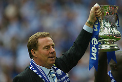 LONDON, ENGLAND - Saturday, May 17, 2008: Portsmouth's manager Harry Redknapp celebrates with the FA Cup trophy after beating Cardiff City 1-0 during the FA Cup Final at Wembley Stadium. (Photo by Chris Ratcliffe/Propaganda)