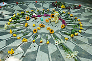 Imagine memorial to John Lennon in Strawberry Fields in Central Park,New York,U.S.A.