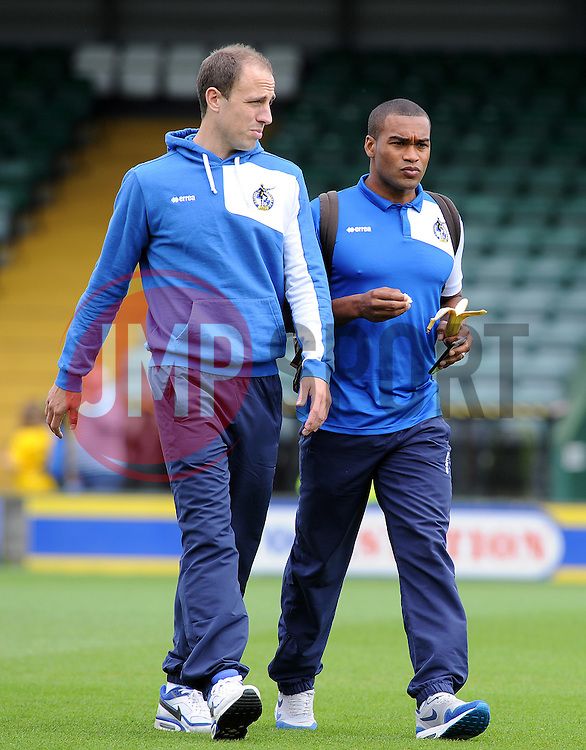Mark McChrystal and Jermaine Easter - Mandatory byline: Neil Brookman/JMP - 07966386802 - 15/08/2015 - FOOTBALL - Huish Park -Yeovil,England - Yeovi Town v Bristol Rovers - Sky Bet League One