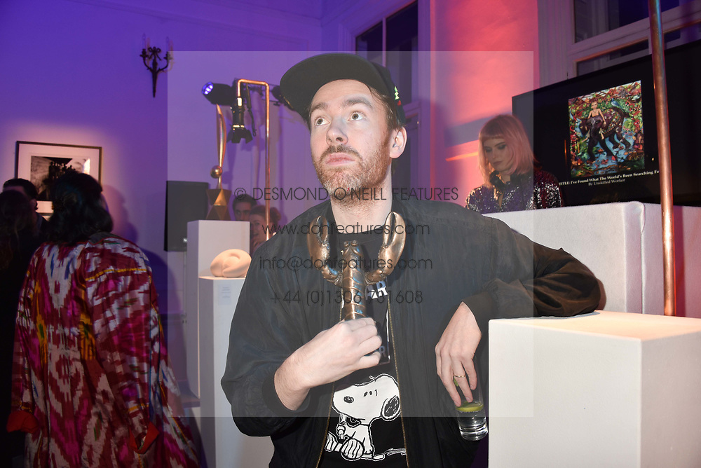 Philip Colbert at Mark Shand's Adventures and His Cabinet Of Curiosities VIP private view, 32 Portland Place, London, England. 20 February 2018.
