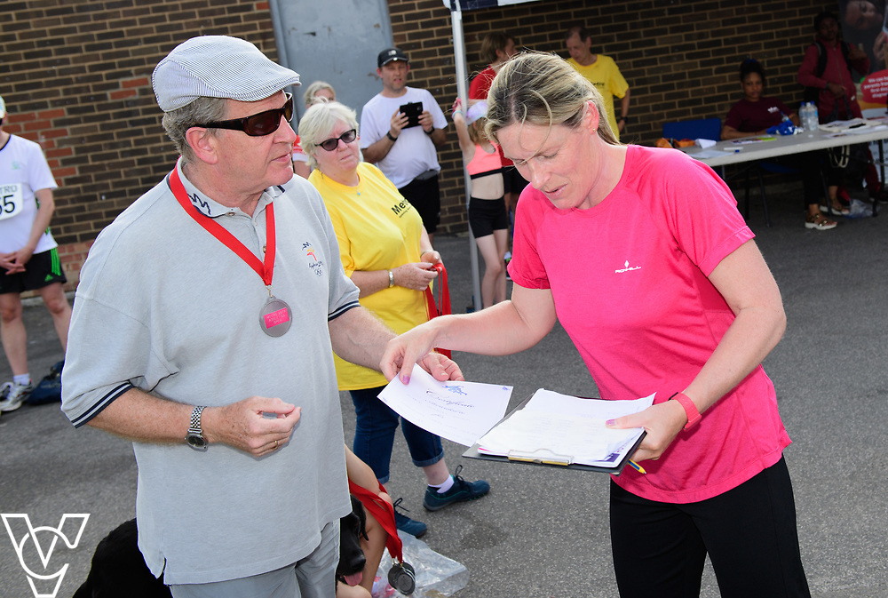 Metro Blind Sport's 2017 Athletics Open held at Mile End Stadium.  Medal presentations.<br /> <br /> Picture: Chris Vaughan Photography for Metro Blind Sport<br /> Date: June 17, 2017
