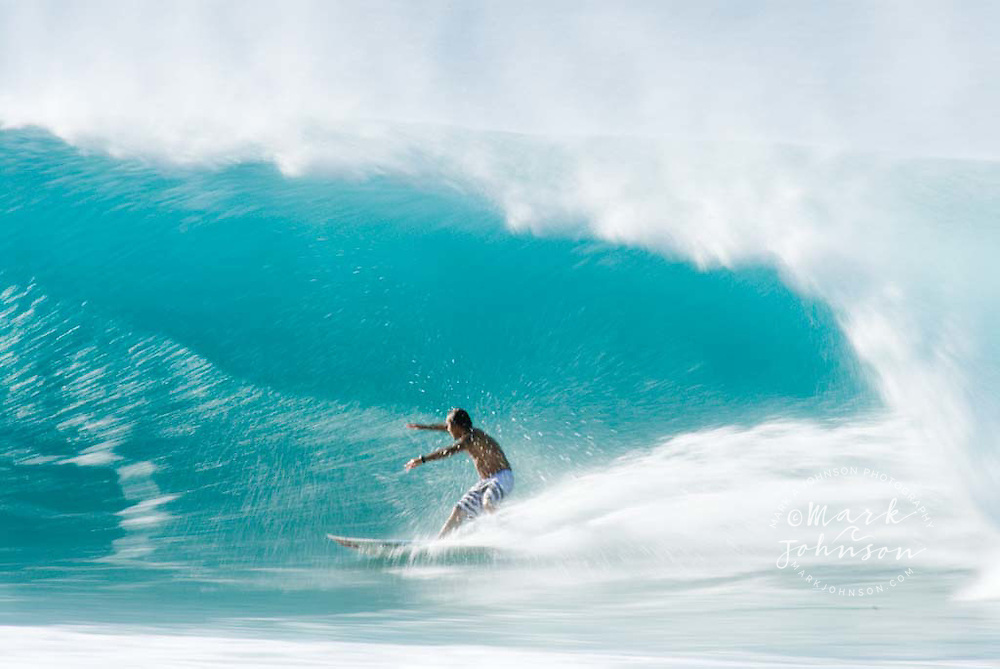Surfing at Backdoor Pipeline, North Shore, Oahu, Hawaii