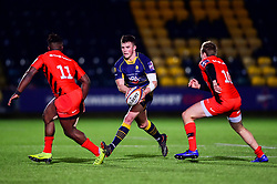 Will Butler of Worcester Warriors is marked by Rotimi Segun of Saracens and Max Malins of Saracens  - Mandatory by-line: Ryan Hiscott/JMP - 08/02/2019 - RUGBY - Sixways Stadium - Worcester, England - Worcester Warriors v Saracens - Premiership Rugby Cup Semi-Final