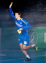 David Razgor of Celje during handball match between RK Celje Pivovarna Lasko and IK Savehof (SWE) in 3rd Round of Group B of EHF Champions League 2012/13 on October 13, 2012 in Arena Zlatorog, Celje, Slovenia. (Photo By Vid Ponikvar / Sportida)