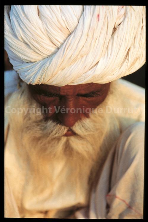 Vieil homme du Rajasthan, Inde