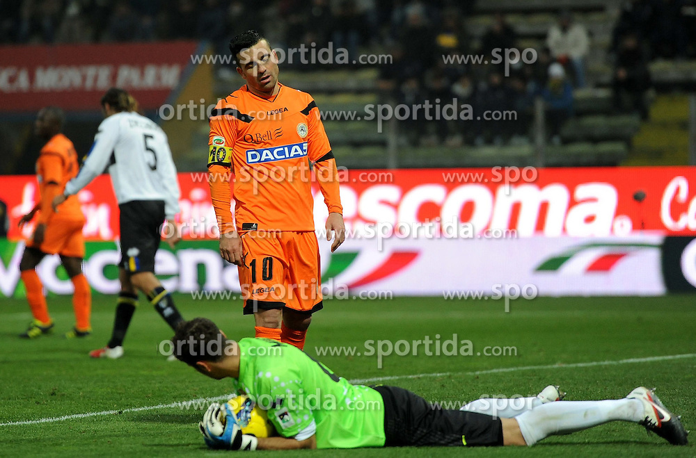 20.11.2011, Stadion Ennio Tardini, Parma, ITA, Serie A, FC Parma vs Udinese Calcio, 12. Spieltag, im Bild Delusione Antonio DI NATALE (Udinese) // during the football match of Italian 'Serie A' league, 12th round, between FC Parma and Udinese Calcio at Stadium Ennio Tardini, Parma, Italy on 20/11/2011. EXPA Pictures © 2011, PhotoCredit: EXPA/ Insidefoto/ Alessandro Sabattini..***** ATTENTION - for AUT, SLO, CRO, SRB, SUI and SWE only *****