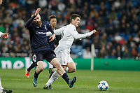 Real Madrid´s Kovacic and Malmo´sJo Inge Berget  during 2015/16 Champions League soccer match between Real Madrid and Malmo at Santiago Bernabeu stadium in Madrid, Spain. December 08, 2014. (ALTERPHOTOS/Victor Blanco)