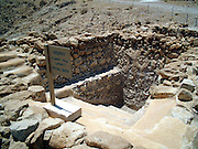 The ritual bath near the Qumran caves The caves of Qumran are famous since the discovery of the The Qumran Scrolls, the oldest manuscript of the Hebrew Bible in 1920. Tens of thousands of scroll fragments written in three different languages: Hebrew, Aramaic, and Greek. They were stored in cylindrical pottery jars with a lid of a type unknown elsewhere. The jars are about 50cm high and 25cm in diameter.