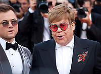 Actor Taron Egerton and Sir Elton John at the Rocketman gala screening at the 72nd Cannes Film Festival Thursday 16th May 2019, Cannes, France. Photo credit: Doreen Kennedy