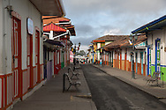 Salento, Quind&iacute;o, Colombia - 05.09.2016        <br /> <br /> Impression of the Colombian coffee region.The small village Salento is a popular tourist spot, also because it has reserved the traditional architecture of the coffee area.<br /> <br /> Eindruecke aus der kolumbianische Kaffeeanbauregion. Das kleine Dorf Salento lockt zahlreiche Touristen an, auch weil es die traditionelle Architektur der Region bewahrt hat. <br /> <br /> Photo: Bjoern Kietzmann