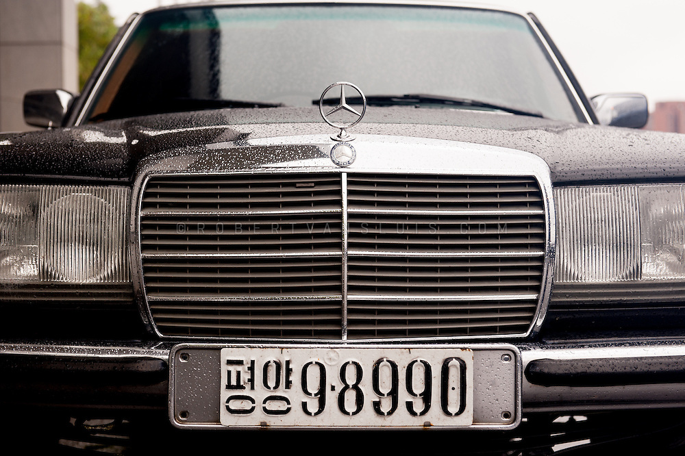 Mercedes belonging to a Party official, Pyongyang, DPRK (North Korea)