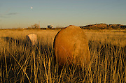 A historic cemetary sits roadside along the original Rote 66 East of Santa Rosa, New Mexico.