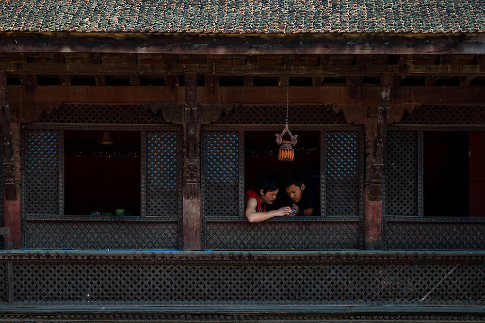 Unguarded moments at Bhakthpur.<br />