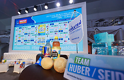 28.07.2015, Klagenfurt, Strandbad, AUT, A1 Beachvolleyball EM 2015, Pressekonferenz, im Bild die neue Videowall // during Press Conference of the A1 Beachvolleyball European Championship at the Strandbad Klagenfurt, Austria on 2015/07/28. EXPA Pictures © 2015, EXPA Pictures © 2015, PhotoCredit: EXPA/ Mag. Gert Steinthaler