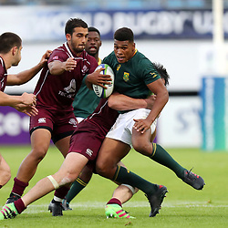 Damian Willemse of South Africa during the U20 World Championship match between South Africa and Georgia on May 30, 2018 in Perpignan, France. (Photo by Manuel Blondeau/Icon Sport)