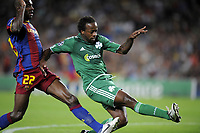 FOOTBALL - CHAMPIONS LEAGUE 2010/2011 - GROUP STAGE - GROUP D - FC BARCELONA v PANATHINAIKOS - 14/09/2010 - PHOTO JEAN MARIE HERVIO / DPPI - GOAL SIDNEY GOVOU (PAN)