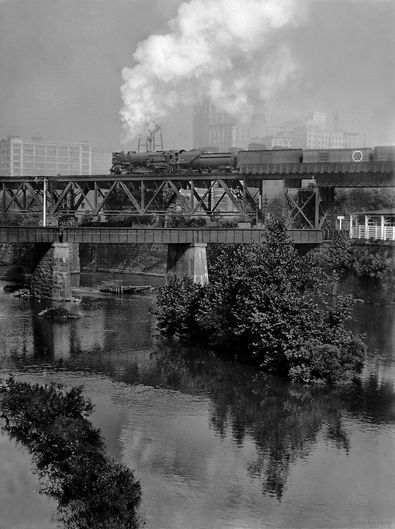 Train crossing the James River, Richmond, Virginia, 1926