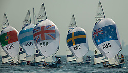 10.08.2012, Bucht von Weymouth, GBR, Olympia 2012, Segeln, im Bild Belcher Mathew, Page Malcolm, (AUS, 470 Men).Bithell Stuart, Patience Luke, (GBR, 470 Men) // during Sailing, at the 2012 Summer Olympics at Bay of Weymouth, United Kingdom on 2012/08/10. EXPA Pictures © 2012, PhotoCredit: EXPA/ Daniel Forster ***** ATTENTION for AUT, CRO, GER, FIN, NOR, NED, .POL, SLO and SWE ONLY!