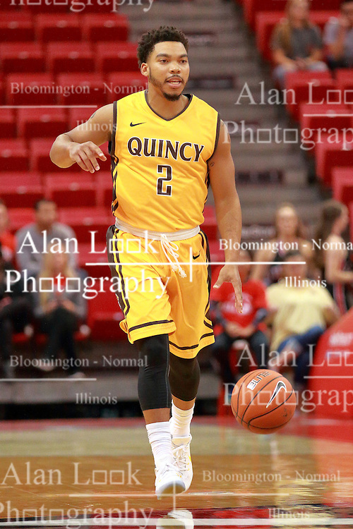 05 November 2016:   Herm Senor II during an NCAA  mens basketball game where the Quincy Hawks lost to the Illinois State Redbirds in an exhibition game at Redbird Arena, Normal IL
