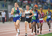 Filip Ingebrigtsen (NOR) and Andrew Buchart (GBR) run in the 5,000m during the 39th Golden Gala Pietro Menena in an IAAF Diamond League meet at Stadio Olimpico in Rome on Thursday, June 6, 2019. (Jiro Mochizuki/Image of Sport)