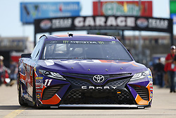 November 2, 2018 - Ft. Worth, Texas, United States of America - Denny Hamlin (11) takes to the track to practice for the AAA Texas 500 at Texas Motor Speedway in Ft. Worth, Texas. (Credit Image: © Justin R. Noe Asp Inc/ASP via ZUMA Wire)