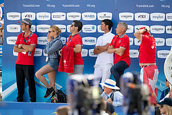 Team Switserland, Werner Muff, Paris Ann Sellon, Andy Kistler, Steve Guerdat<br /> World Equestrian Games - Tryon 2018<br /> © Hippo Foto - Dirk Caremans<br /> 23/09/2018