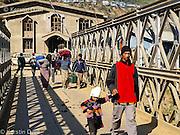 Crossing the bridge between Mizoram in India to Chin State in Burma<br /> Chin refugees from Burma - Myanmar in Mizoram, Northeast India, 2006-2008
