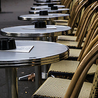Fine Art Photograph Paris Sidewalk Cafe Tables and Chairs