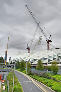 Melbourne Rectangular Stadium using Orrcon Steel.Melbourne & Olympic Park Precinct  .Melbourne, Victoria .10th of March 2010.(C) Joel Strickland Photographics.Use information: This image is intended for Editorial use only (e.g. news or commentary, print or electronic). Any commercial or promotional use requires additional clearance.