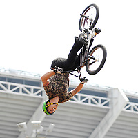 Allan Cooke competes at the AST Dew Tour Right Guard Open BMX Park Prelims Friday, July 18, 2008 in Cleveland, OH.