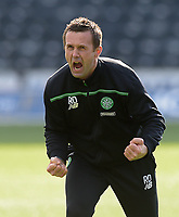19/03/16 LADBROKES PREMIERSHIP<br /> KILMARNOCK v CELTIC<br /> RUGBY PARK - KILMARNOCK<br /> Sheer delight for Celtic manager Ronny Deila at full-time